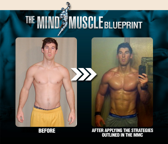 The Mind Muscle Blueprint gives you all the most significant step by step approach that you can use to get ripped and defy all your genetics and weak spots
